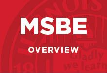MSBE Overview