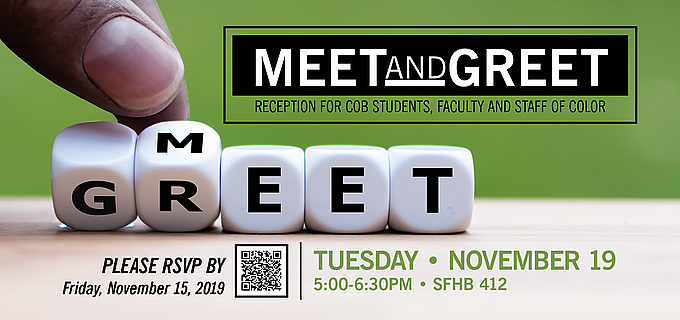 Meet and Greet for COB Students, Faculty and Staff of Color