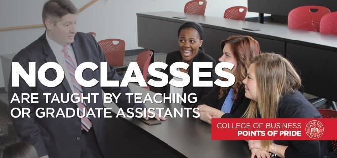 No Classes taught by Teaching or Graduate Assistants